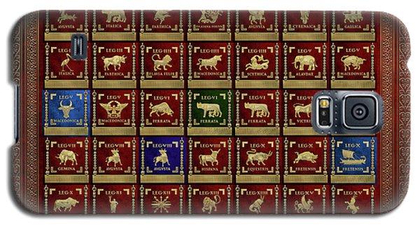 Patriotic Galaxy S5 Case - Standards Of Roman Imperial Legions - Legionum Romani Imperii Insignia by Serge Averbukh