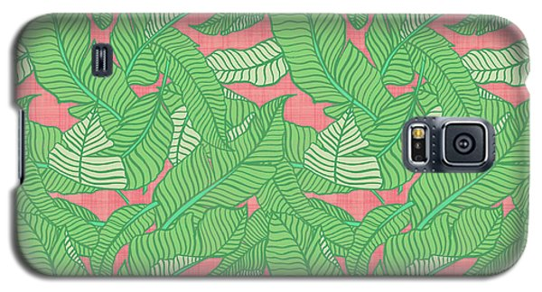Banana Leaf Pattern Pink Galaxy S5 Case