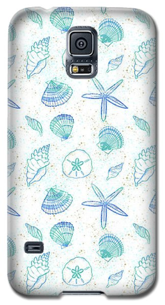 Vibrant Seashell Pattern White Background Galaxy S5 Case