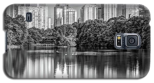 Atlanta Skyline On Lake Clara Meer - Piedmont Park View Monochrome 1x1 Galaxy S5 Case