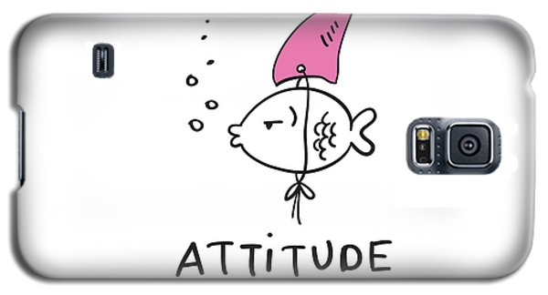 Attitude - Baby Room Nursery Art Poster Print Galaxy S5 Case