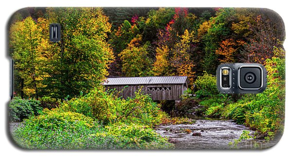 Autumn At The Comstock Covered Bridge Galaxy S5 Case