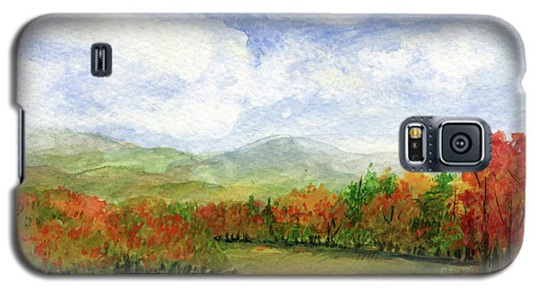 Autumn Day Watercolor Vermont Landscape Galaxy S5 Case