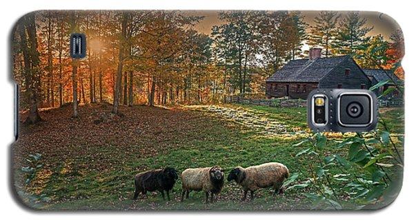 Autumn Sunset At The Old Farm Galaxy S5 Case