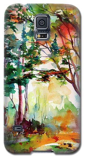 Autumn Trees Watercolors Galaxy S5 Case