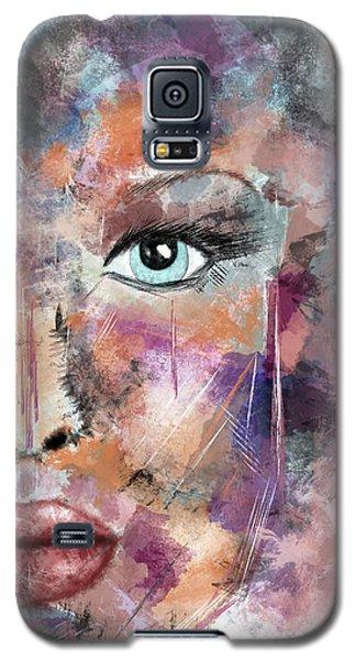 Autumn - Woman Abstract Art Galaxy S5 Case