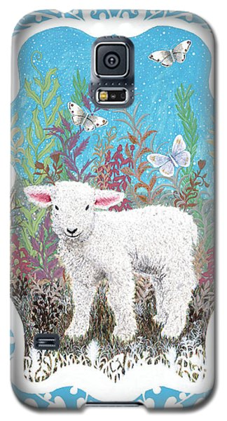 Baby Lamb With White Butterflies Galaxy S5 Case