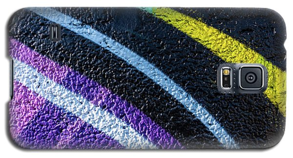 Background With Wall Texture Painted With Colorful Lines. Galaxy S5 Case