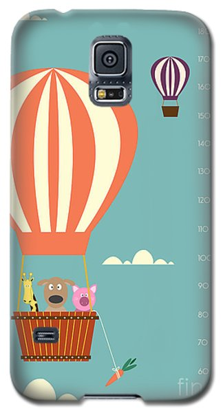 Card Galaxy S5 Case - Balloon Cartoons ,meter Wall Or Height by Isaree