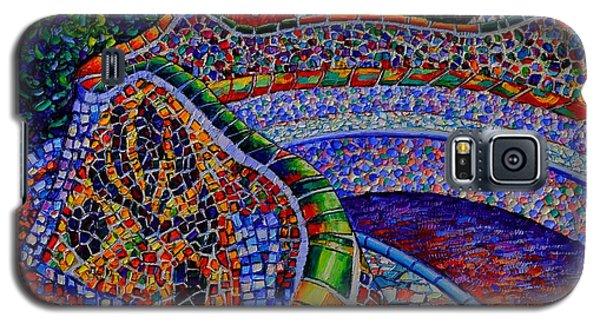 Barcelona Park Guell Sunrise Modern Impressionist Impasto Knife Oil Painting Ana Maria Edulescu Galaxy S5 Case