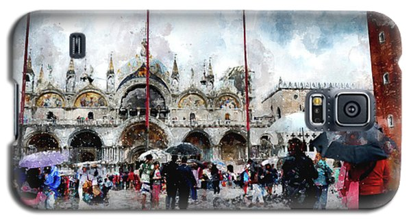 Basilica Of Saint Mark In Venice With Watercolor Look Galaxy S5 Case