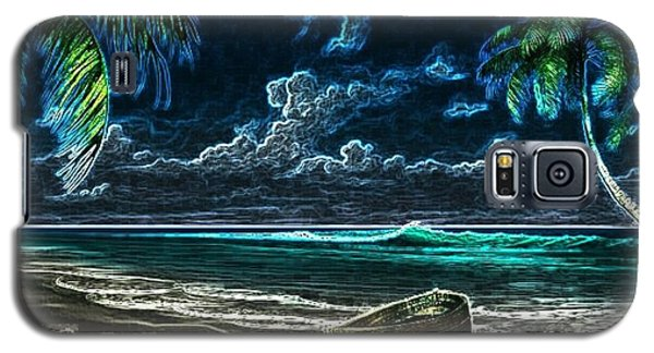 Beach At Night Galaxy S5 Case