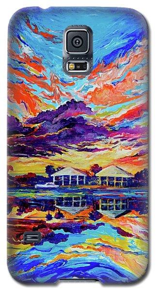 Beach House Reflections Fluid Acrylic Galaxy S5 Case