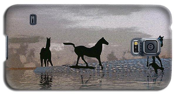 Beach Of Wild Horses Galaxy S5 Case