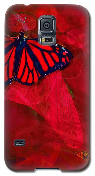 Beautiful And Fragile In Red Galaxy S5 Case