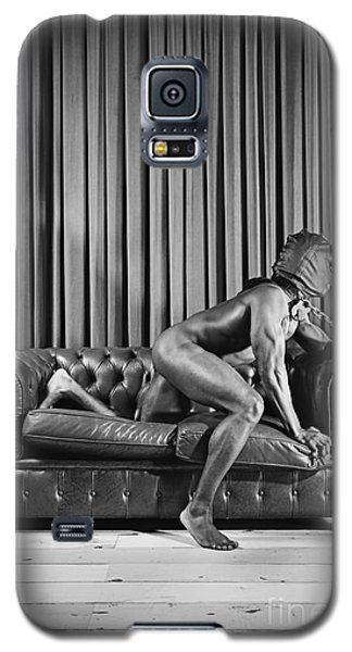 Beautiful Naked Man With Mask Posing On A Sofa Galaxy S5 Case