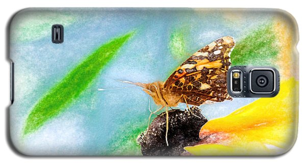 Beautiful Painted Lady Butterfly Galaxy S5 Case