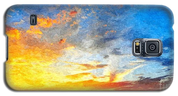 Beautiful Sunset In Landscape In Nature With Warm Sky, Digital A Galaxy S5 Case