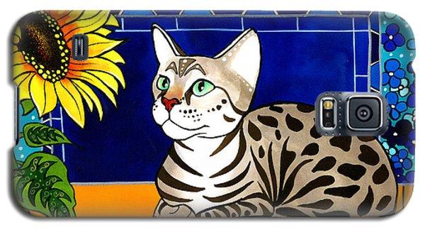 Beauty In Bloom - Savannah Cat Painting Galaxy S5 Case
