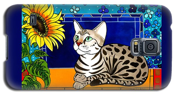 Beauty In Bloom - Savannah Cat Painting Galaxy S5 Case