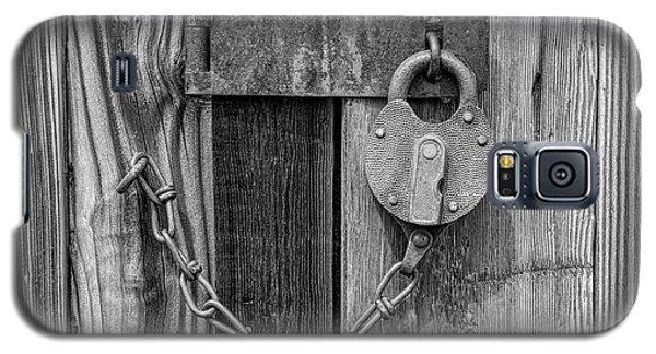 Belmont Lock, Black And White Galaxy S5 Case