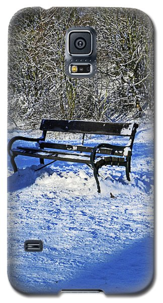 Bench In The Snow Galaxy S5 Case