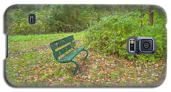 Bench Overlooking Pine Quarry Galaxy S5 Case