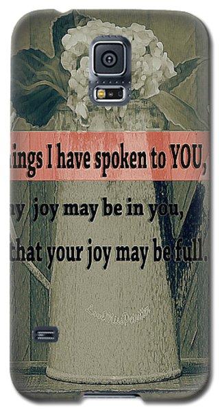 Bible Verses  Art 111 Galaxy S5 Case