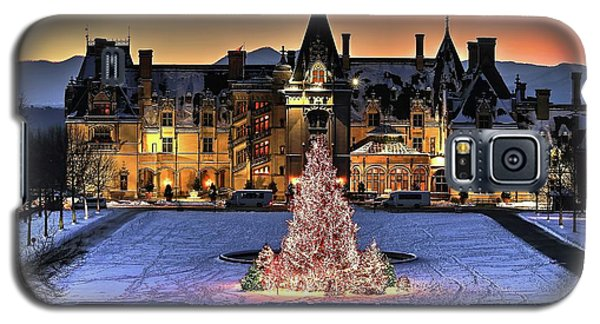 Biltmore Christmas Night All Covered In Snow Galaxy S5 Case