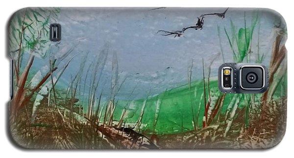 Birds Over Grassland Galaxy S5 Case