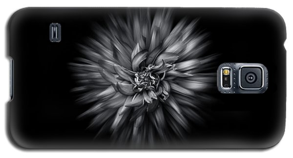 Black And White Flower Flow No 5 Galaxy S5 Case