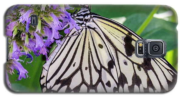 Black And White On Purple Galaxy S5 Case