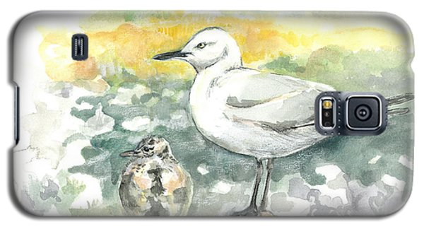 Black-billed Gull Family Galaxy S5 Case
