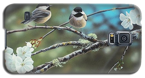 Black Capped Chickadees Galaxy S5 Case