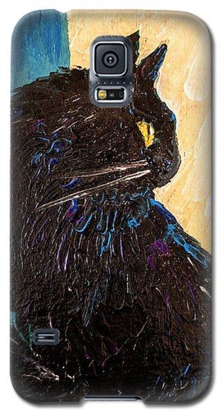 Black Cat In Sunlight Galaxy S5 Case