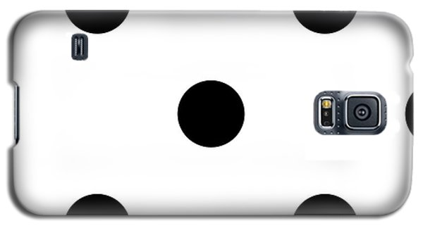 Black Dots On A White Background- Ddh610 Galaxy S5 Case