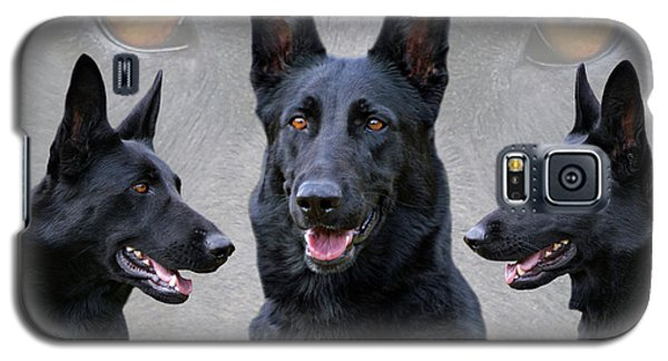 Black German Shepherd Dog Collage Galaxy S5 Case