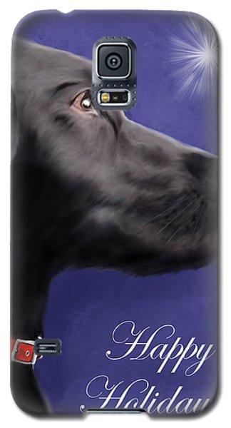 Black Labrador Retriever - Happy Holidays Galaxy S5 Case