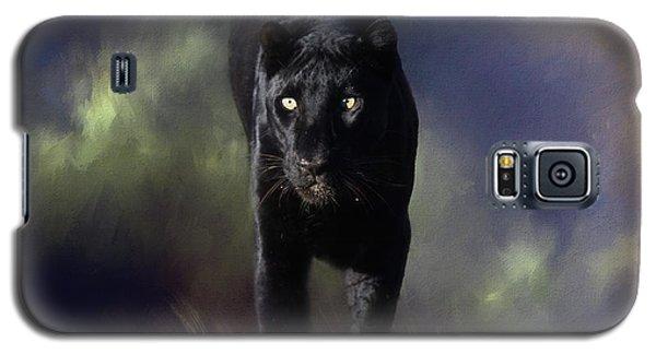 Black Leopard In The Grass Galaxy S5 Case