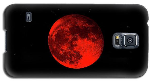 Blood Red Wolf Supermoon Eclipse 873a Galaxy S5 Case