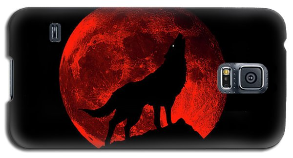 Blood Red Wolf Supermoon Eclipse 873l Galaxy S5 Case