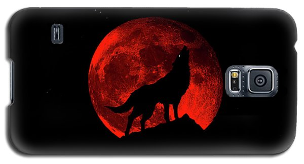 Blood Red Wolf Supermoon Eclipse 873l Galaxy S5 Case