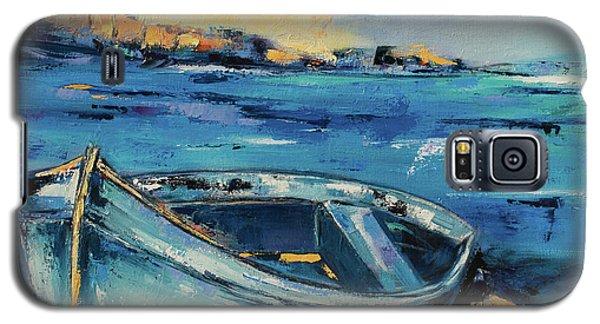 Blue Boat On The Mediterranean Beach Galaxy S5 Case