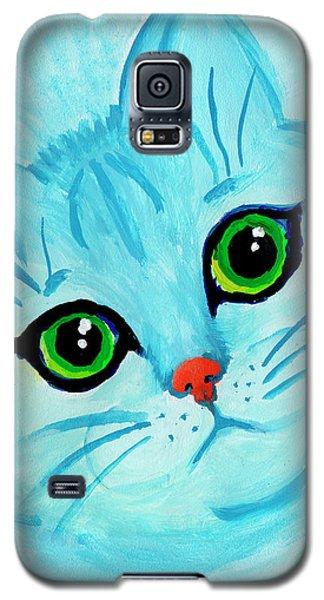 Blue Cat Galaxy S5 Case