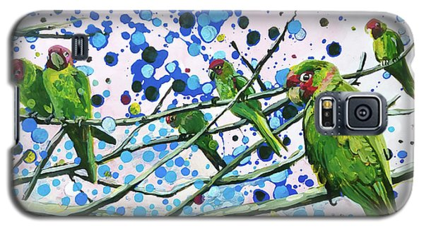 Blue Dot Parakeets Galaxy S5 Case