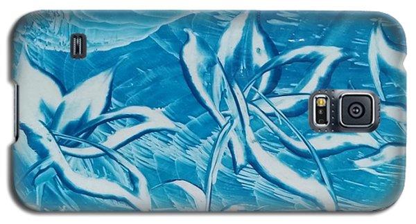 Blue Floral Galaxy S5 Case