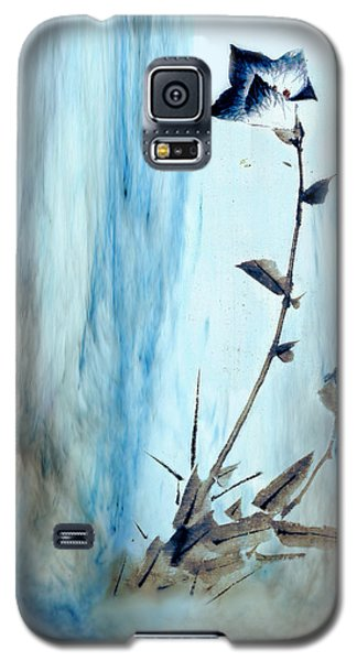 Blue Flower Abstract Galaxy S5 Case
