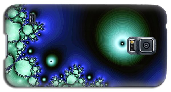 Blue Glowing Bliss Abstract Galaxy S5 Case