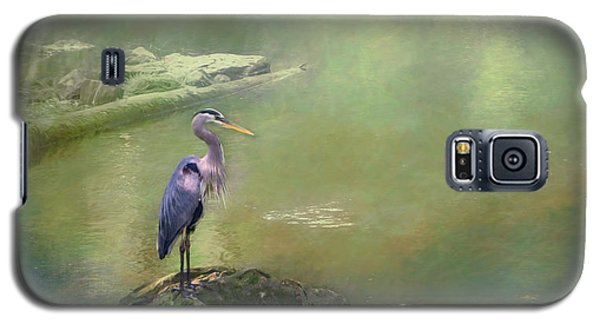 Blue Heron Isolated Galaxy S5 Case