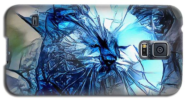 Blue Himmy Cat Galaxy S5 Case